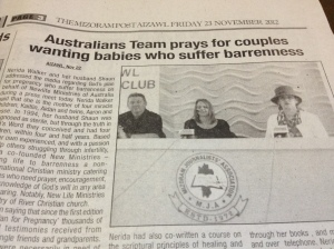 Australian Team prays for Couples